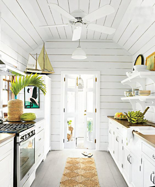 A Scandi Style Kitchen And Bathroom With A Coastal Cool Feel: 15 Cool Kitchen Ideas With Tropical Feel