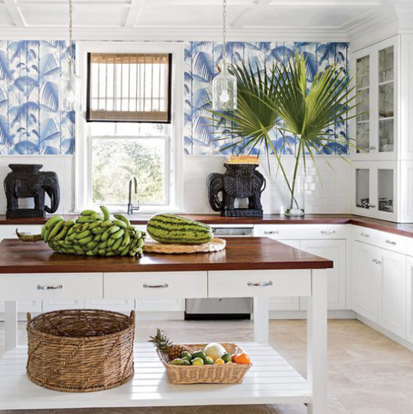 Tropical Kitchen With Caribbean Styles