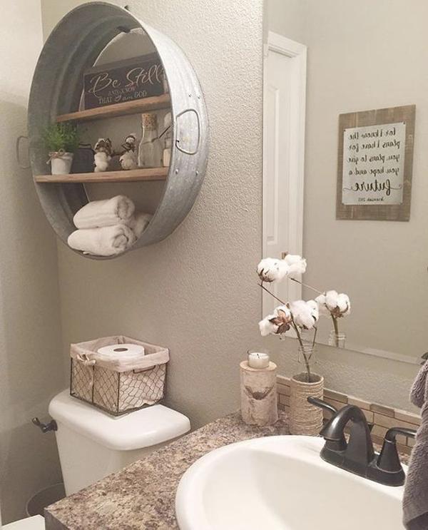Diy Bathroom Ideas: DIY Rustic Bathroom Ideas With Natural Elements