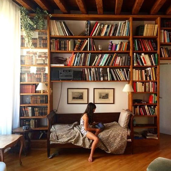 20 Awesome Bedroom Library Decor Ideas | HomeMydesign