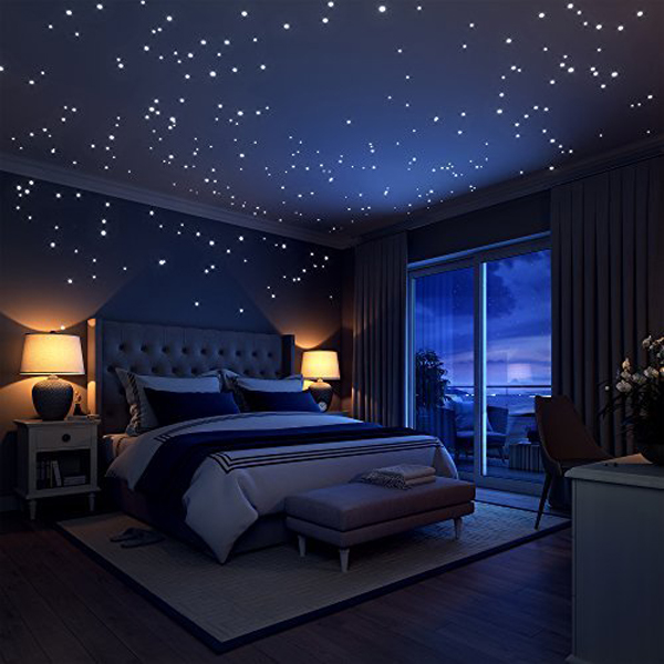 Minimalist Galaxy Bedroom Theme Ideas