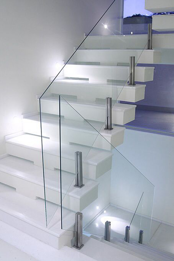 Modern Gl Stair Railing With