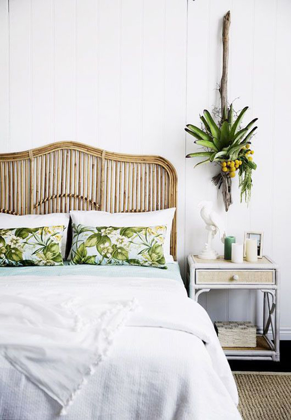 artistic rattan headboards    bedroom