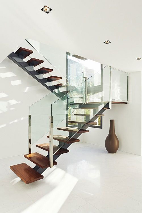 unique-small-glass-stair-railing - HomeMydesign