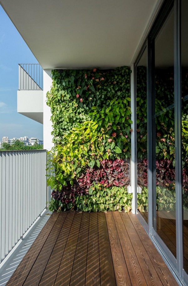 Vertical Garden Wall In Balcony