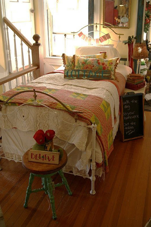 bright-vintage-bedroom-decor-for-girl | Home Design And Interior
