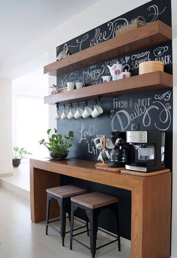 25 diy coffee station ideas you need to copy home design for Coffee station furniture