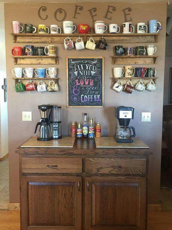 Diy Wood Coffee Station Decor Ideas Home Design And Interior