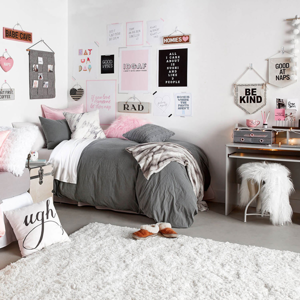 Classically dorm rooms you can shop right now home - Dorm room bedding ideas ...