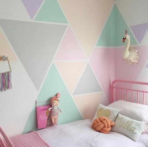 Geometric Kids Wall Painting Ideas Home Design And Interior