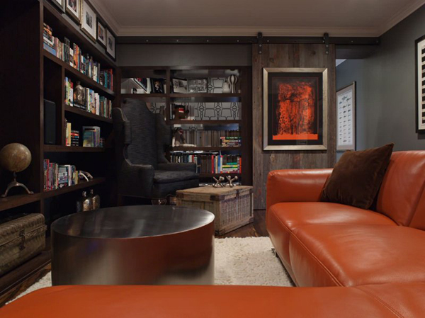 Man Cave Lounge Room : Man cave living room with sliding doors