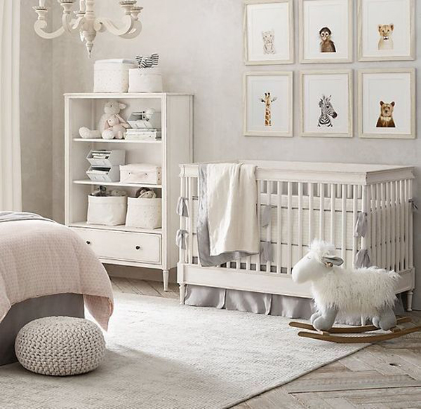 Interior Design Elegant Pink White Gray Baby Girl Room: 22 Gender Neutral Nursery Ideas You'll Can Try