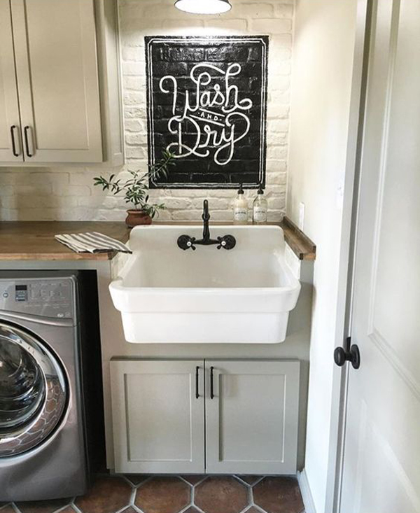 18 Most Beautiful Laundry Room With Vintage Style ... on Laundry Decor Ideas  id=85879
