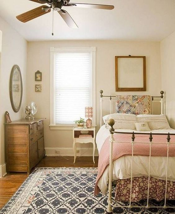 sweet-vintage-bedroom-with-pink-lights | Home Design And Interior