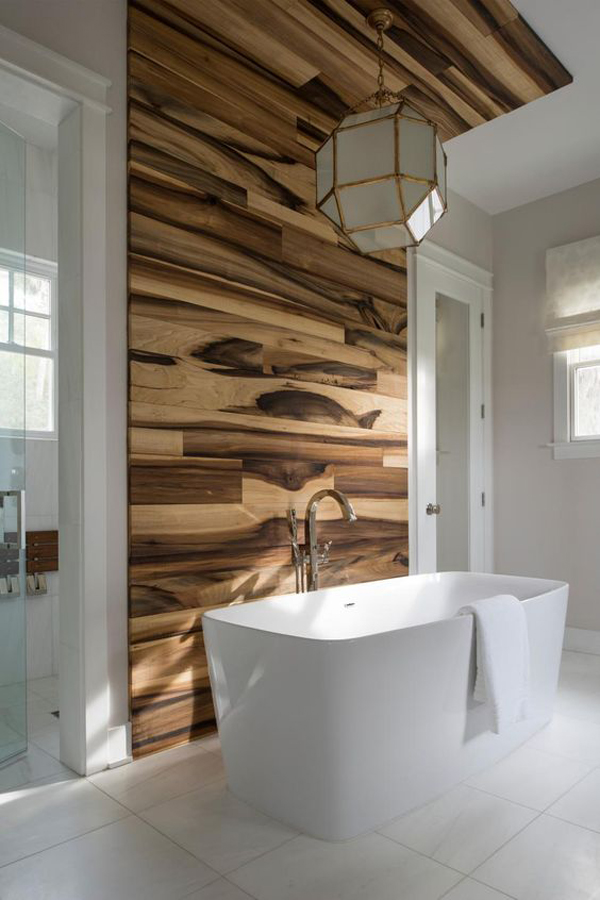 Wooden Bathroom Wall Accents Homemydesign