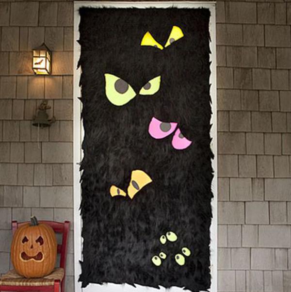 20 Last Minutes Easy DIY Halloween Front Doors You Must See Home