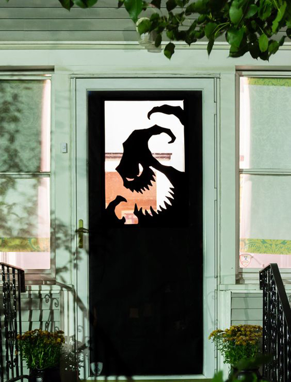 Diy Vinyl Halloween Front Door Decorations