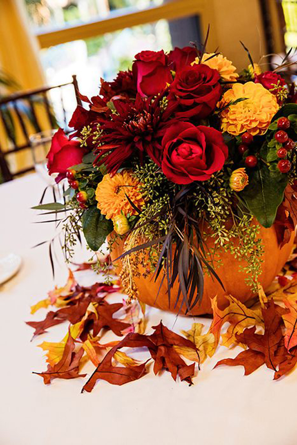 15 Pumpkin Floral Ideas For Your Fall Decorating Home