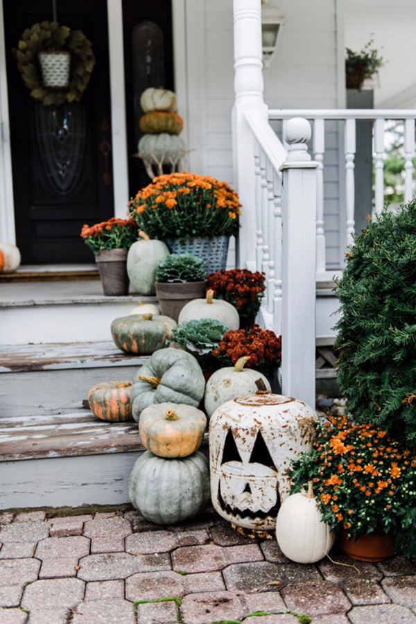 20 Simple Fall Porch Decor For Halloween And Thanksgiving