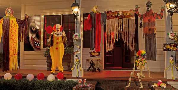 20 Cool And Scary Clown Halloween Decorations Home