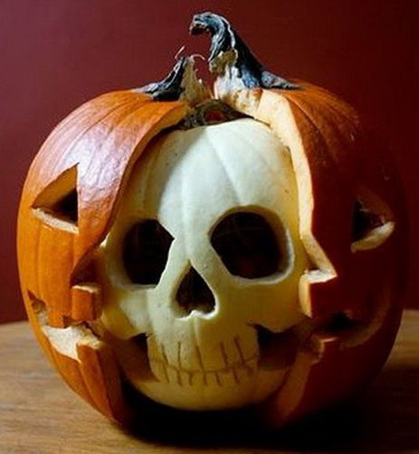 Skeleton-halloween-pumpkin-carving-ideas