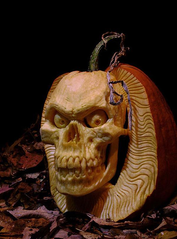 skeleton-halloween-pumpkin-templates