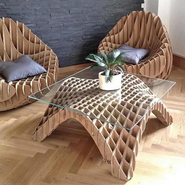 Unique-diy-cardboard-sofa-set-furniture