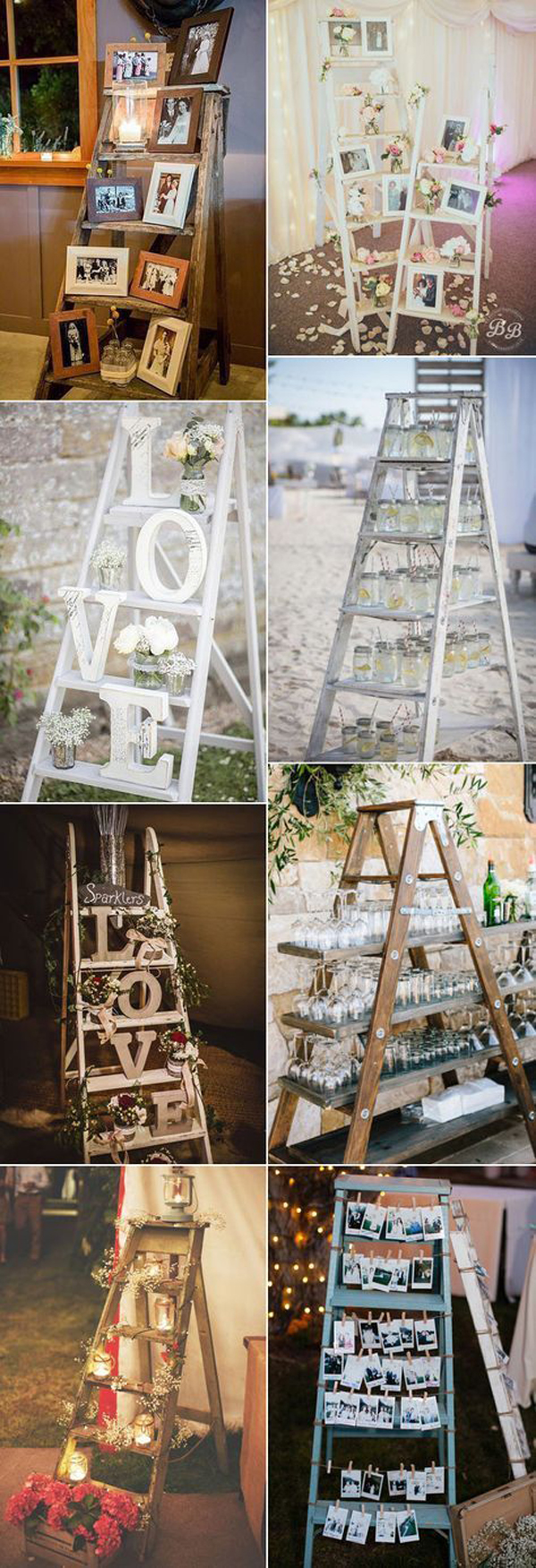 Awesome rustic wedding with wooden vibe elements home for Decor ladder house