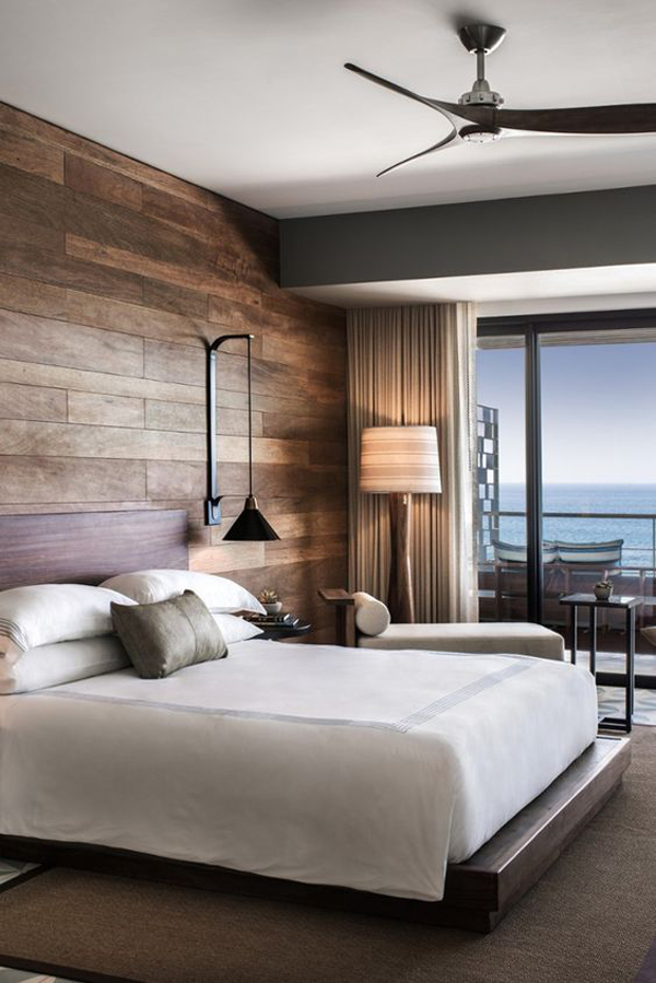 wooden accent wall ideas for bedroom   HomeMydesign