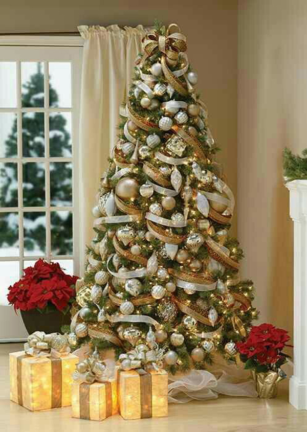 Beautiful Gold Christmas Tree Ideas Home Design And Interior