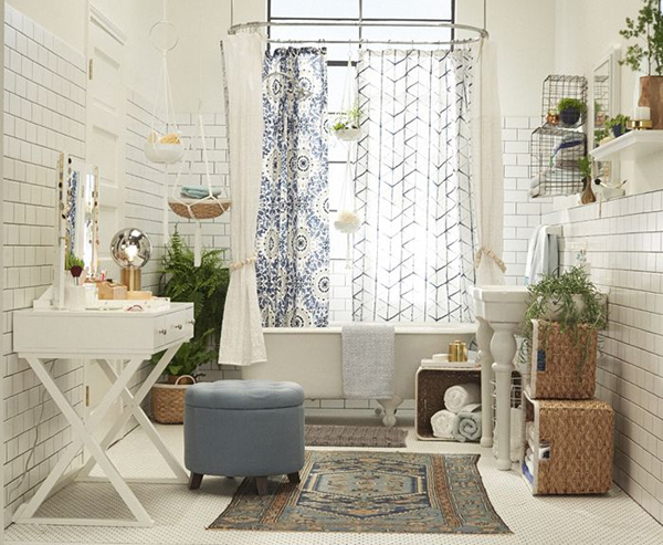 Bright Boho Chic Bathroom Decor