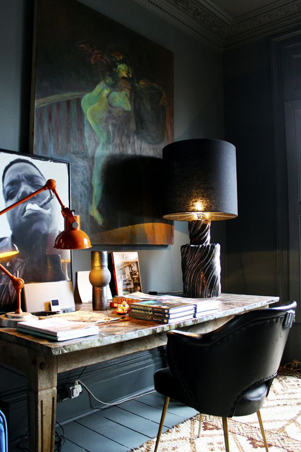 ... Your Home Office Decor With Your Favorite Interior Style And Add Some  Masculine Items To Make It More Cool. Look At The Following Masculine Home  Office ...
