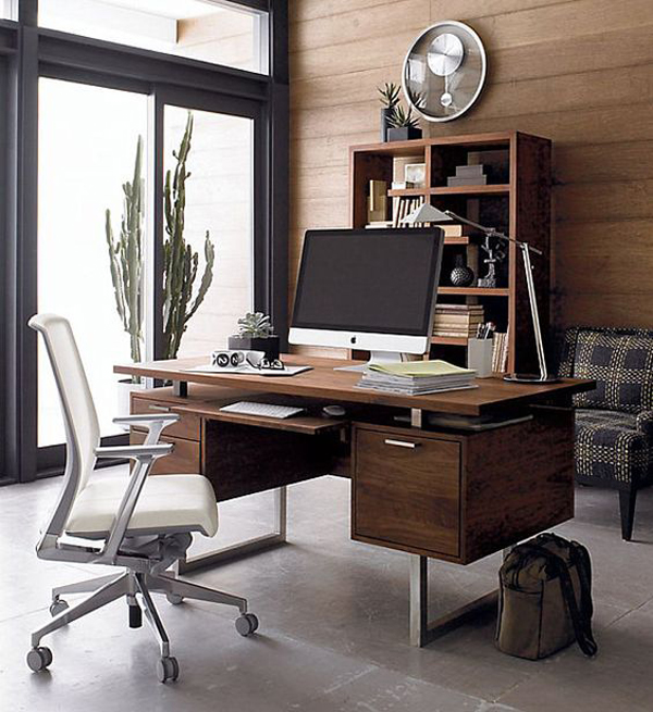 25 Cool Modular Home Office Furniture Designs: 25 Cool And Masculine Home Office For A Man
