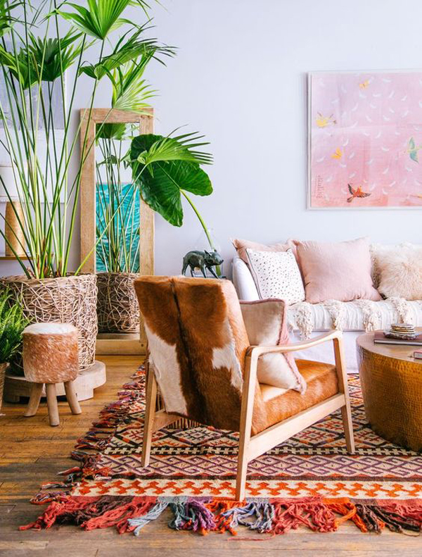 Miami Living Room With Tropical Plants