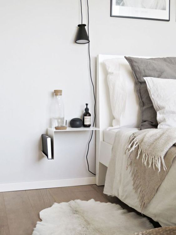 Small Bedside Table Ideas: 20 Modern Bedside Table Lamps Ideas