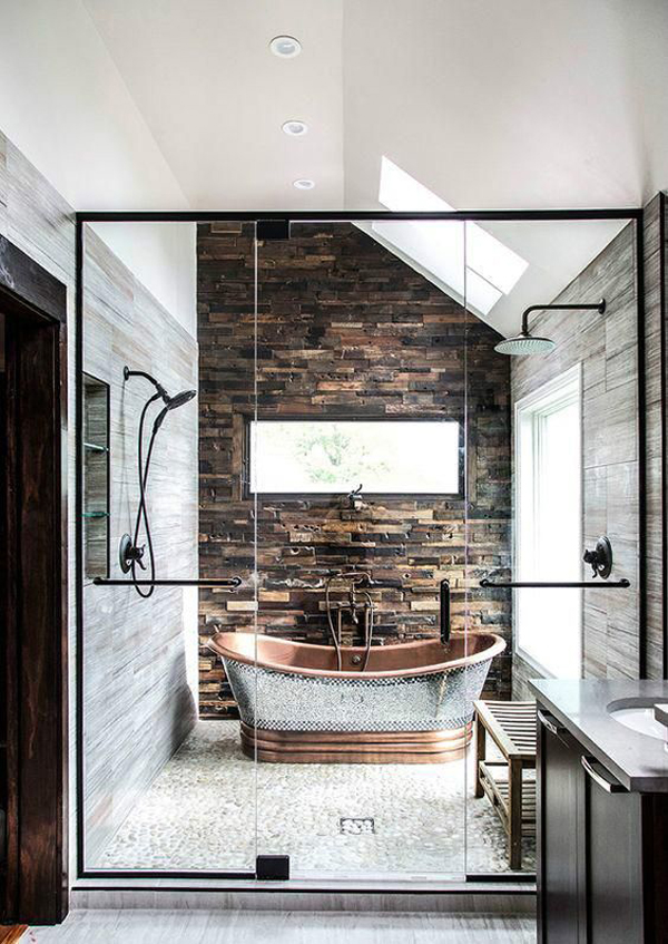 20 Masculine Bathroom Ideas With Exposed Brick Walls