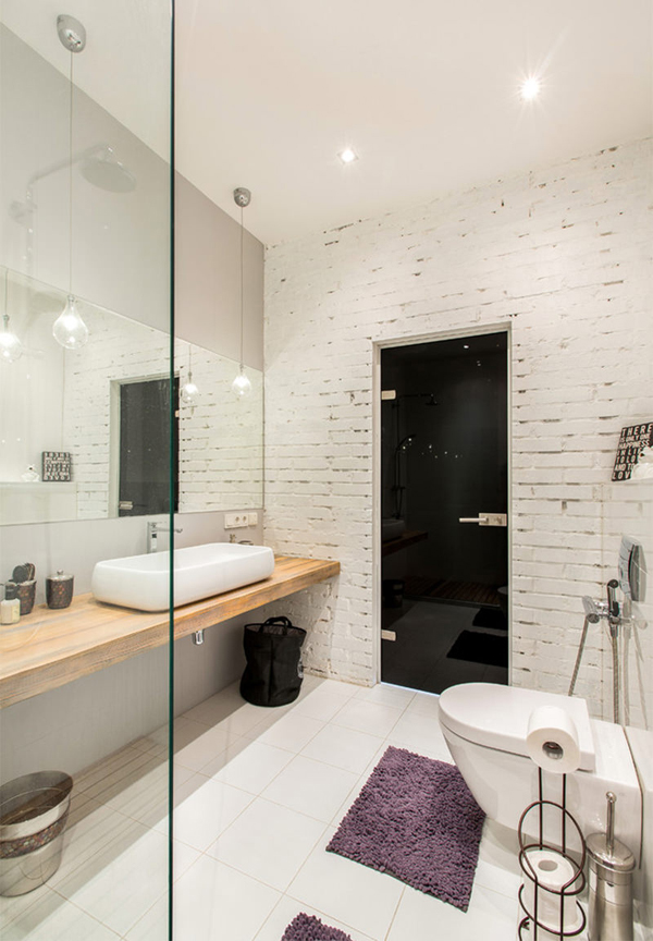 Whatever Your Choice, Brick Walls Still Look Masculine For The Bathroom, In  Addition To Giving A Natural Impression If You Want To Include Some Indoor  ...