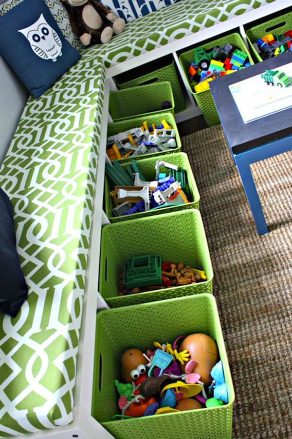 best website c52a6 0e1fc under-bench-toy-storage-with-ikea-kallax