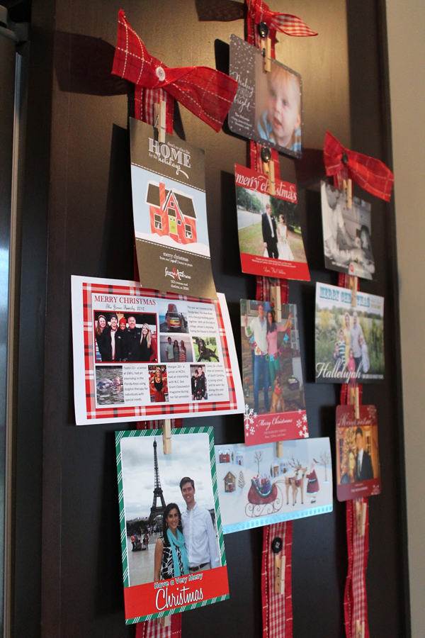 Christmas Card Display.Back Door Christmas Card Display Ideas