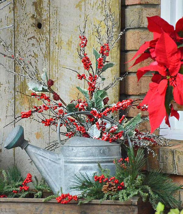 Christmas Planters Diy.Diy Rustic Christmas Planter Ideas