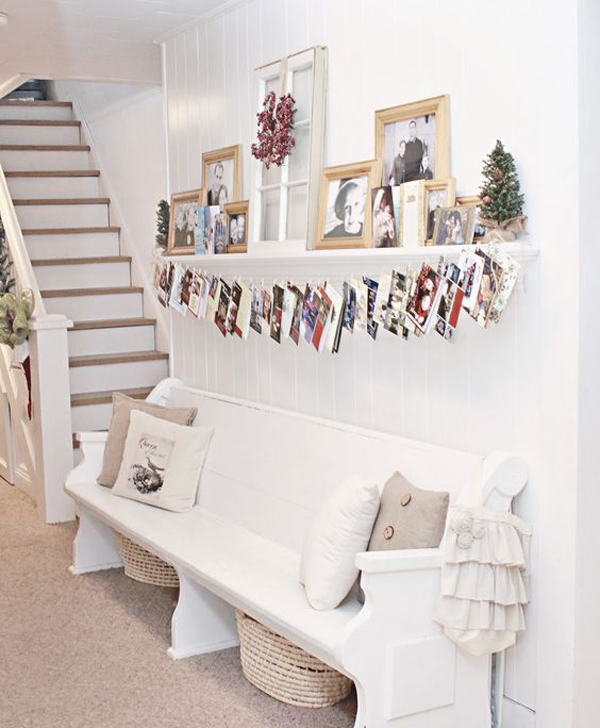 Hanging Christmas Card Display In Under Stairs Home Design And
