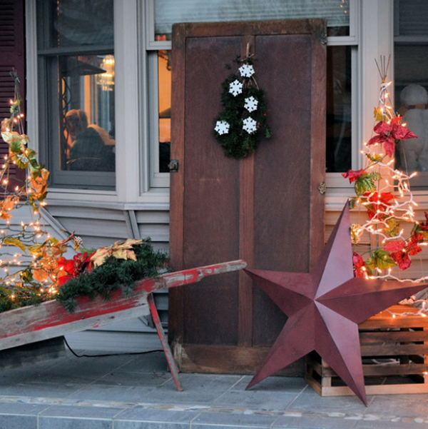 christmas always give warmth in the hearts of every people and christmas porch decoration is the best way your holiday guests are warmly welcomed - Rustic Christmas Porch Decorating Ideas
