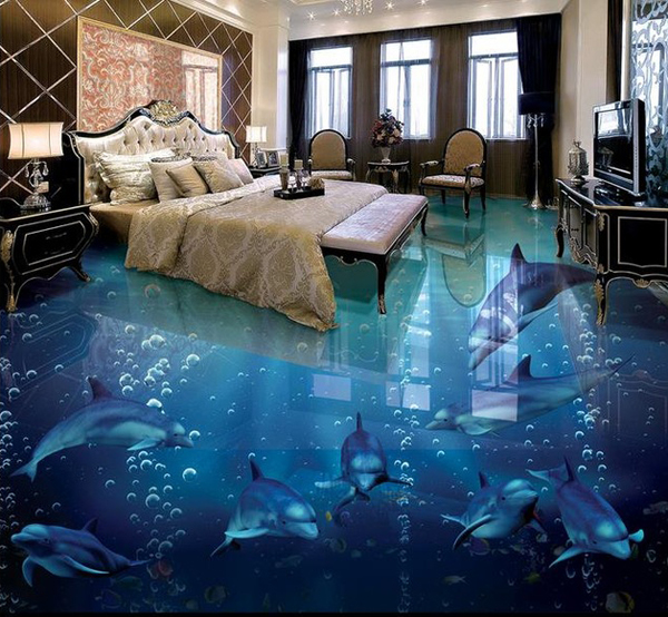 3d Flooring Dolphin Floor Wallpaper Home Design And Interior