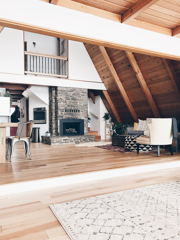 A Frame Home Interiors photographer sylwia janik this timber frame is crafted of reclaimed douglas fir timbers sourced by pioneer millworks from the an Wall Art Is Very Important It Is Simple But Has Such A Strong Message To The Homeowner Wherever They Look At It It Is Very Motivating And Inspiring To