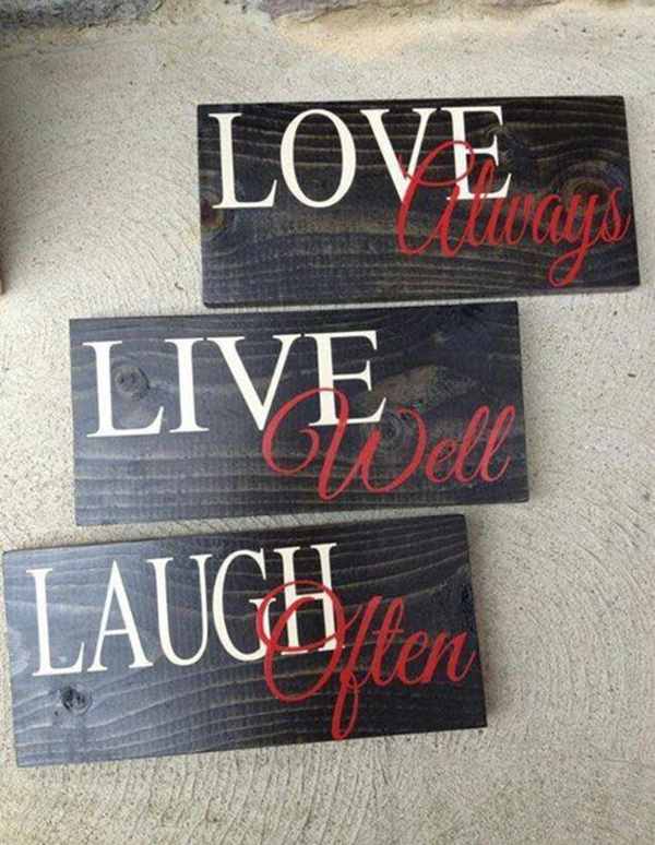 Cool Wood Sign Ideas For Valentine Day