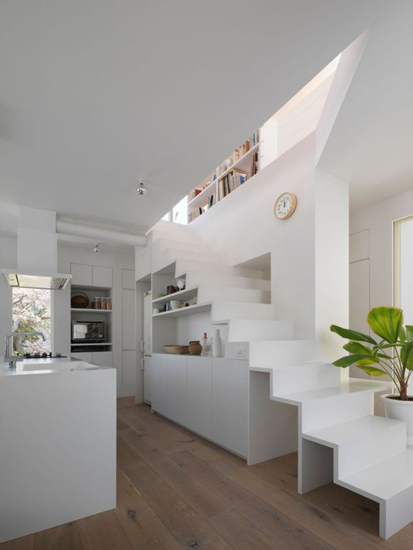 corner-kitchen-island-in-under-the-stairs | Home Design And ...