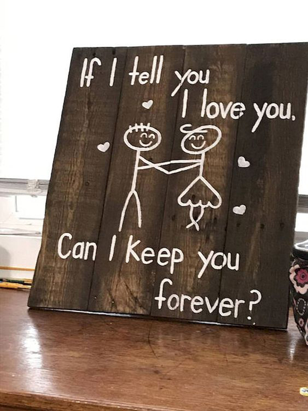 Cute Diy Wood Sign Ideas For Valentine Day