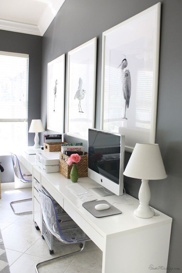 Room Designer Ikea: 20 Simple And Stylish Workspace With IKEA Micke Desk