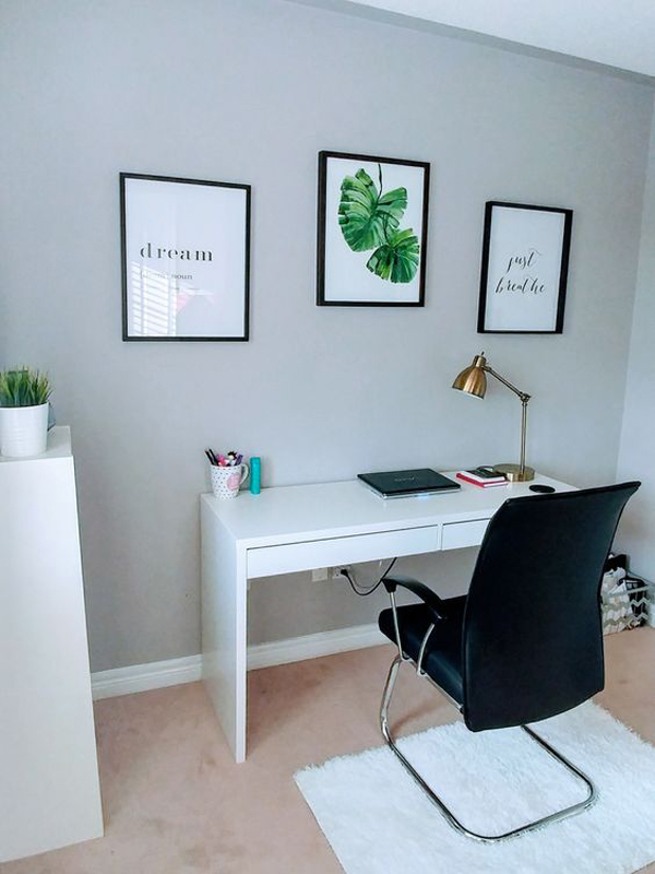20 Simple And Stylish Workspace With Ikea Micke Desk
