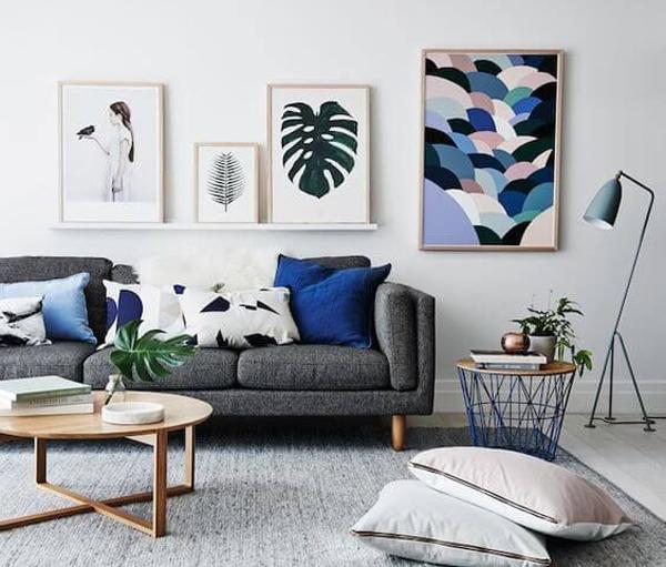 Minimalistscandinavianlivingroomwithgallerywalls Mesmerizing Scandinavian Living Room Design Minimalist